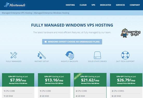 Hostwinds VPS Hosting Windows