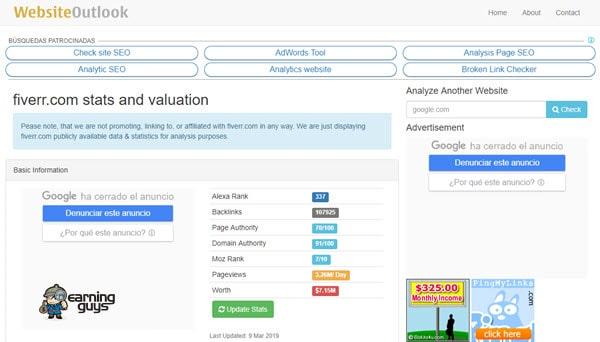 Website Outlook Website Value