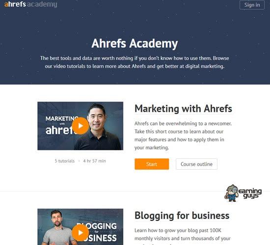 Ahrefs Online SEO Courses