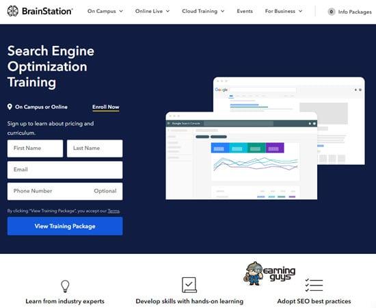 Brainstation Online SEO Training