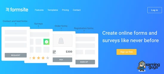 Formsite html form creator
