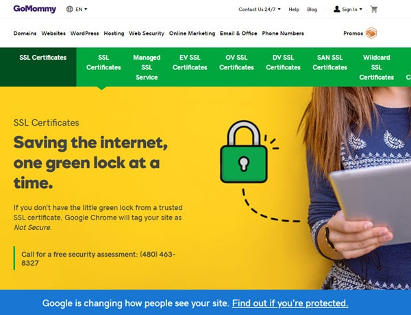GoDaddy Cheap SSL Certificate