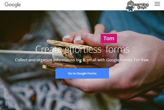 Google Forms Free Form Builder