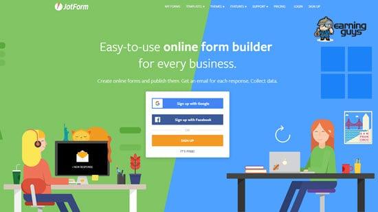 JotForm Online Form creator