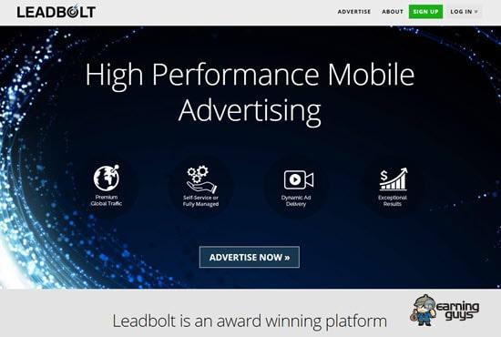 Leadbolt Mobile Ads Network