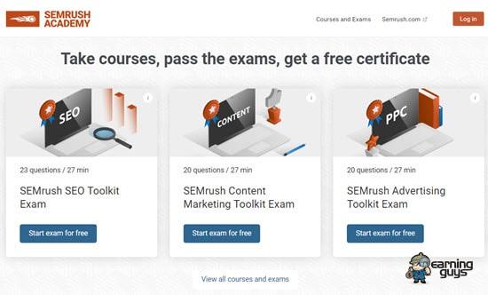 SEMrush Online SEO Training