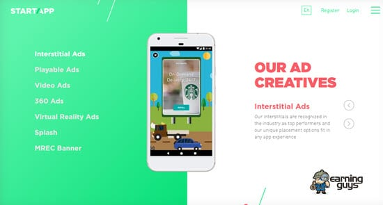 StartApp Mobile Ad Network