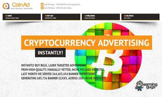 CoinAd crypto advertising network