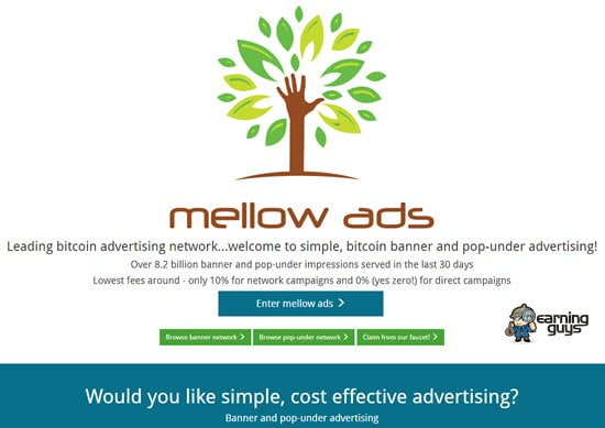 Mellow Ads Bitcoin Advertising Network