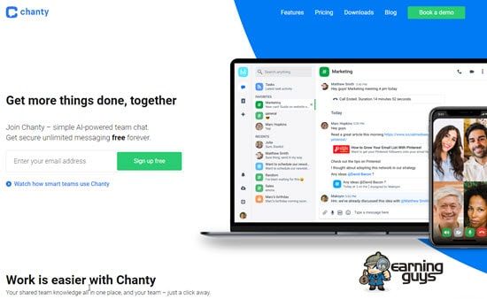 Chanty Team Chat App