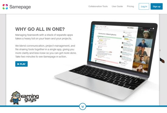Samepage collaborative platform