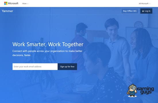 Microsoft Yammer Collaboration Software