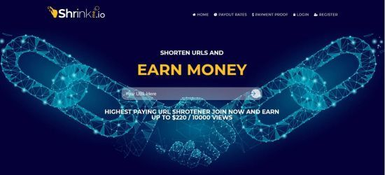 ShrinkMe Shorten URL Earn