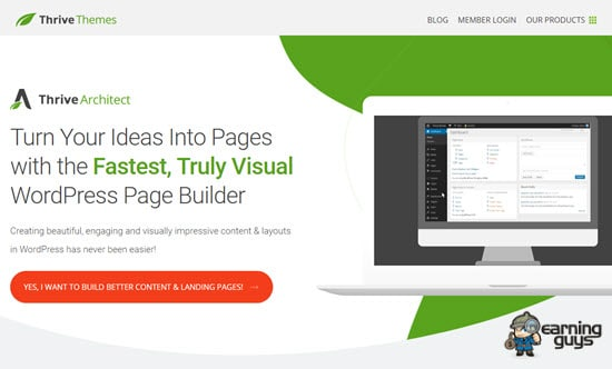 Thrive Architect Landing Page Plugin