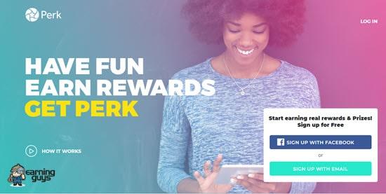 Perk earn reward points