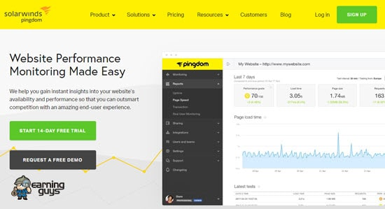 Pingdom Website Performance Monitoring Tool