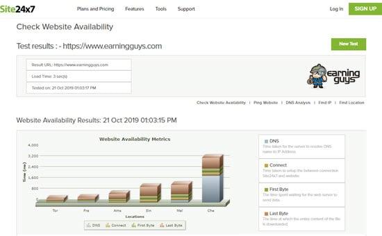 Site24x7 Check Website Availability
