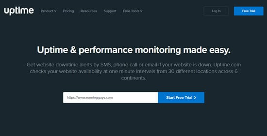 Uptime Website Performance Monitoring
