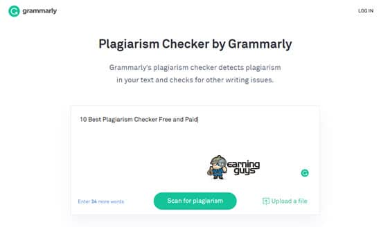 Plagiarism Checker by Grammarly
