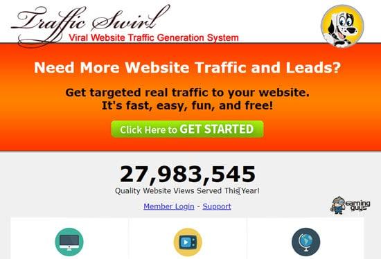 TrafficSwirl Website Traffic
