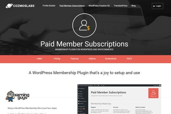 Paid Member Subscriptions WordPress Membership Plugin