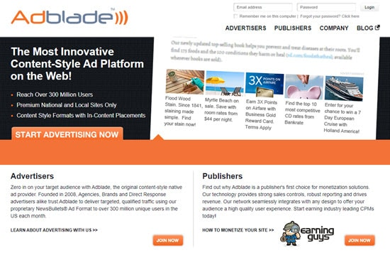 Adblade Pay per Click Affiliate