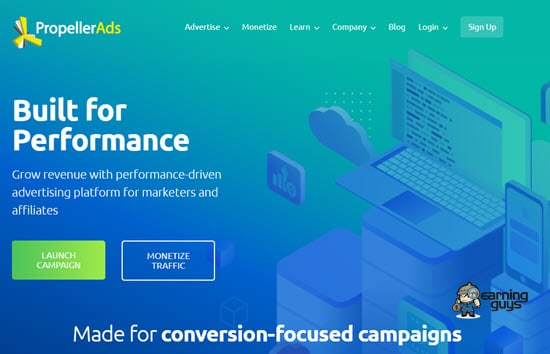 Propeller Ads CPM Ad Network