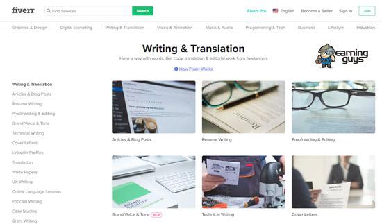 Fiverr Freelance Writer Jobs