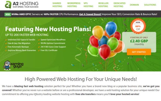 A2Hosting UK Web Hosting
