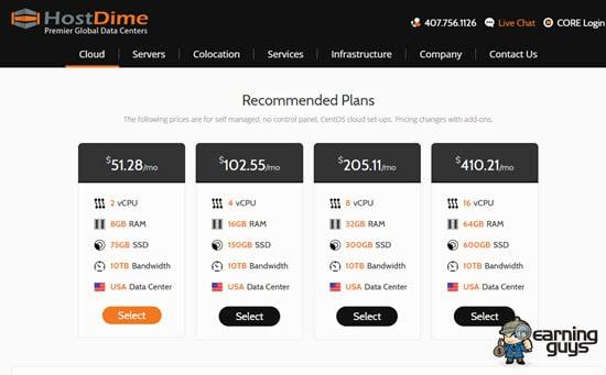 HostDime Virtual Private Server