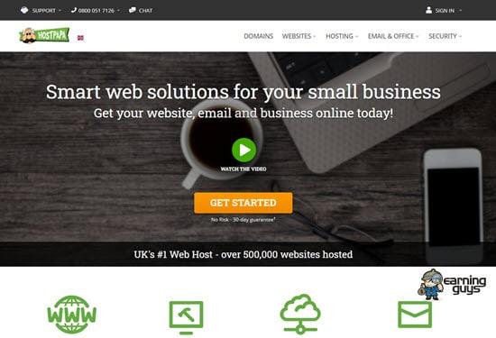 Hostpapa UK Web Hosting