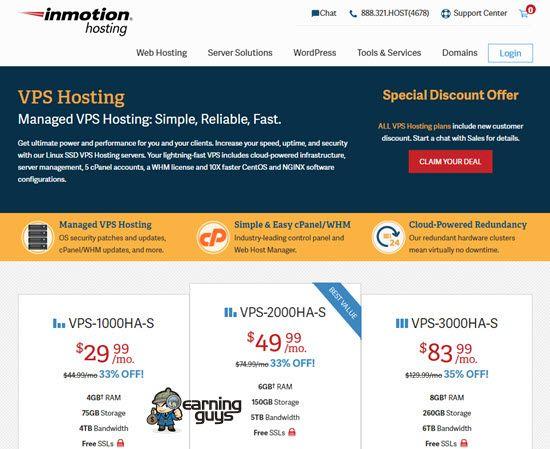 InMotion Hosting VPS Server