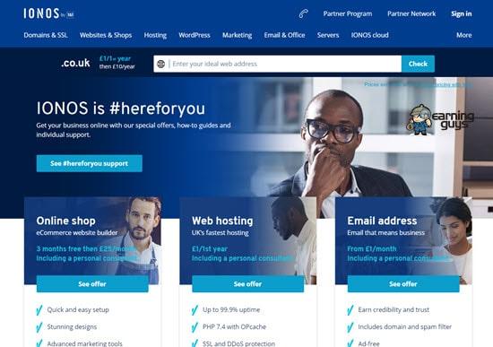 1&1 European Web Hosting