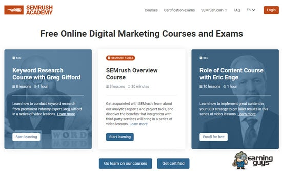 SEMRush Academy Digital Marketing Certification