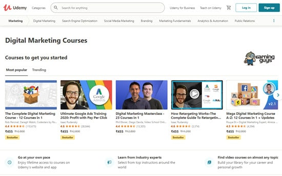 Udemy Digital Marketing Courses