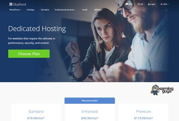Bluehost Dedicated Web Hosting