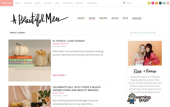A Beautiful Mess Blog