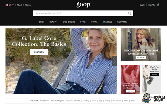 Goop Lifestyle Blog
