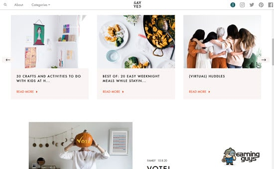 Say Yes Lifestyle Website