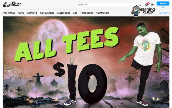 Threadless Online Print Site