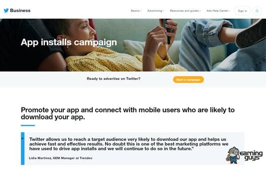 Twitter Ads App Install Network