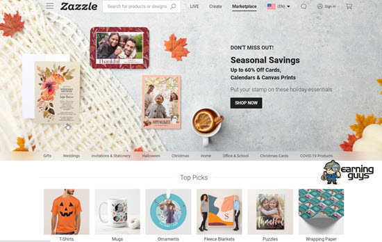 Zazzle Print on Demand Website