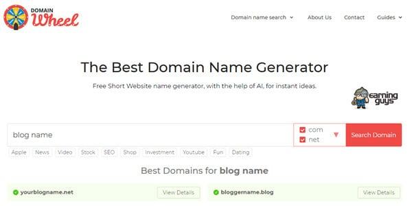 DomainWheel Blog Name Generator