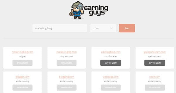 EarningGuys Domain Name Generator