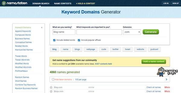 Name Station Website Name Generator