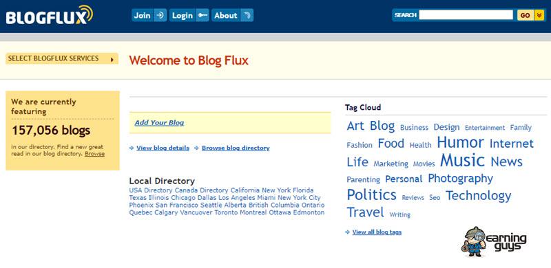 Blog Flux Website Submission