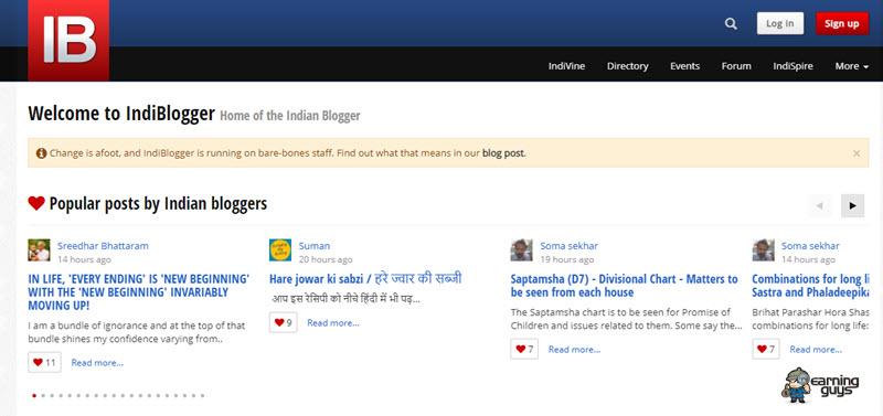Indiblogger Blog Submission Website