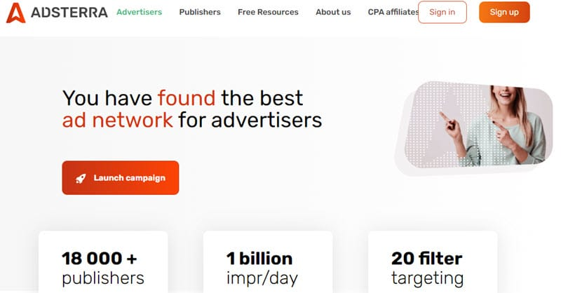 Adsterra for Advertisers