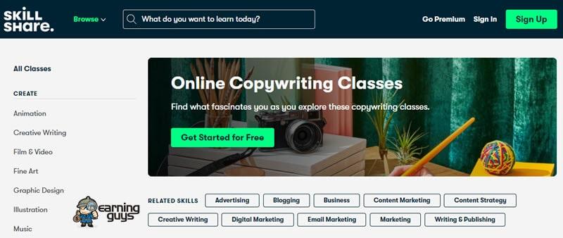 Skillshare Online Copywriting Classes