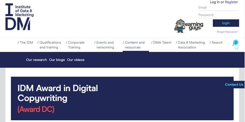IDM Award in Digital Copywriting